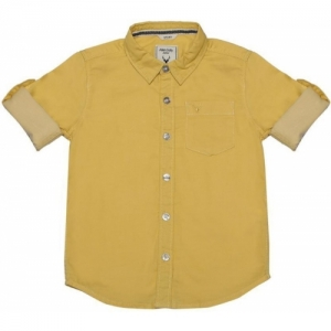 Allen Solly Boys Solid Casual Yellow Shirt