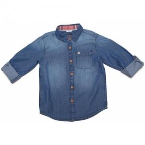 Allen Solly Boys Solid Casual Blue Shirt