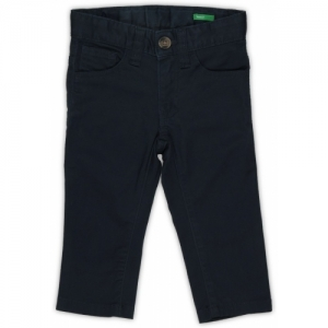 United Colors of Benetton Regular Fit Cotton Blend Black Trousers