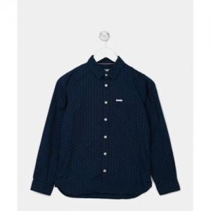 Pepe Jeans Boys Printed Casual Blue Shirt