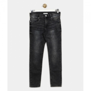 Allen Solly Junior Slim Cotton Lycra Black Jeans