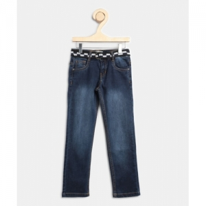 Miss & Chief Slim Cotton Lycra Dark Blue Jeans