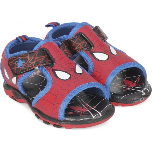 Spiderman Red Velcro Sports Sandals