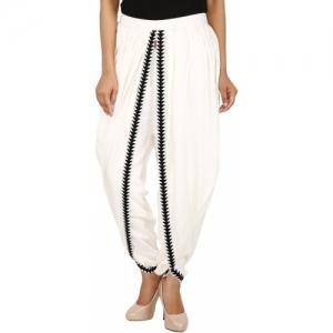 VAIDIKI Solid, Embellished, Self Design Cotton Rayon Blend Women Harem Pants