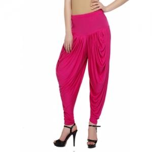Sakhi Sang Solid Cotton Viscose Blend Women Harem Pants
