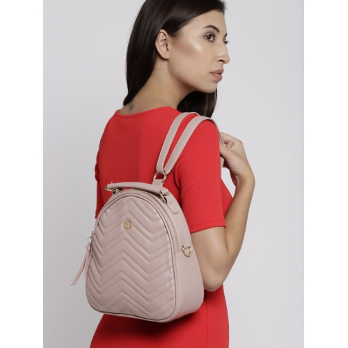 Lisa Haydon for Lino Perros Women Dusty Pink Quilted Backpack