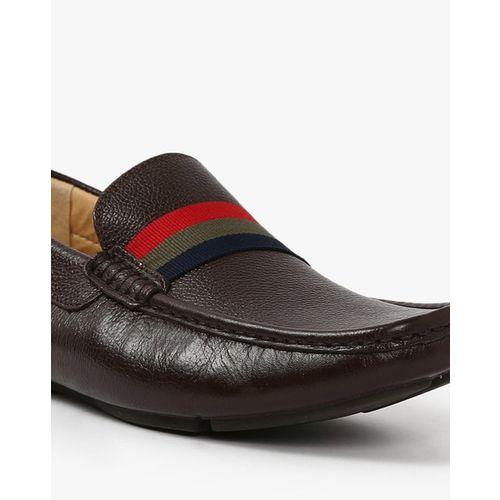 Dune London Billion Di Genuine Leather Textured Driver Shoes