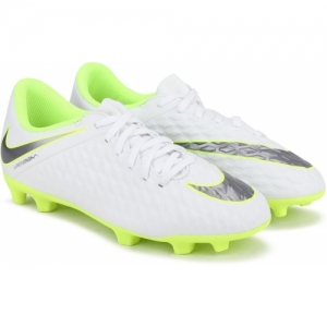 Nike White Lace Up Football Shoes