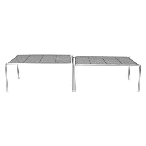 Callas Silvere Stackable Kitchen Cabinet and Counter Shelf Organizer, Size: 66.68 cm x 23.5 cm x 14.61 cm