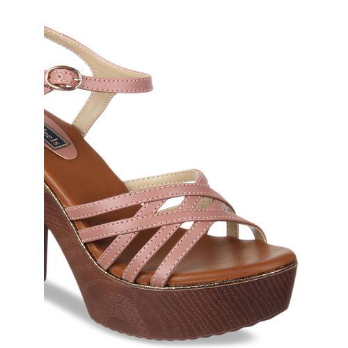 Flat n Heels Women Pink Solid Sandals