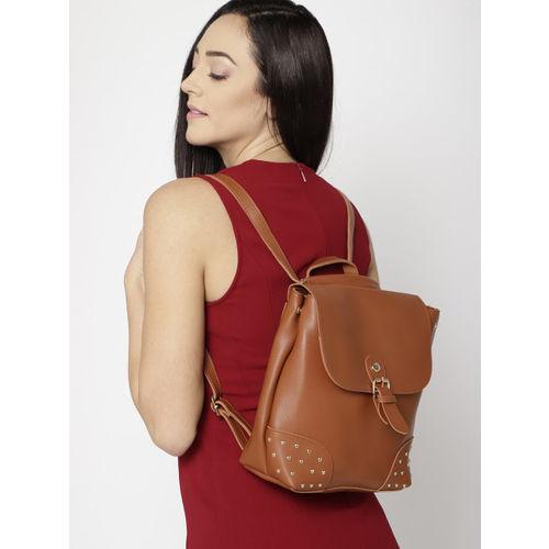 Lino Perros Women Tan Brown Solid Backpack