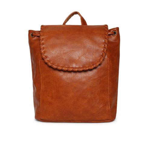 Lino Perros Women Brown Solid Backpack