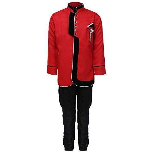 AJ DEZINES Red Kids Suit Set for Boy's