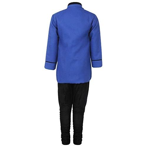 AJ DEZINES Blue Boy's Regular Fit Kurta Pyjama