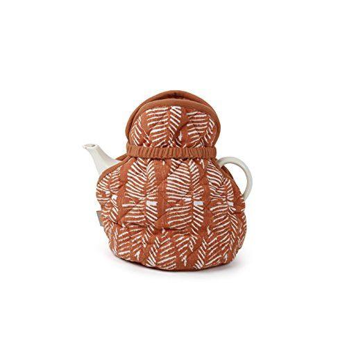 Maspar Generic Sienna Mint Abstract 8 Piece Cotton Table Napkin Set - Red