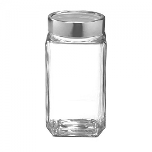 Treo By Milton Transparent Cube Jar 1000 ml,1PC Glassware