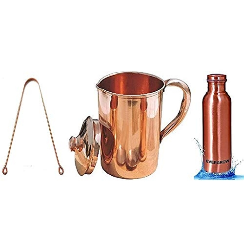 Evergrow Copper Jug with Glass