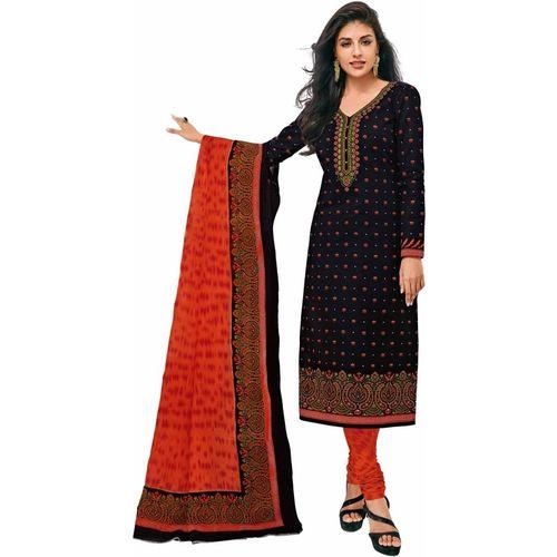 Miraan Cotton Printed Salwar Suit Dupatta Material(Unstitched)
