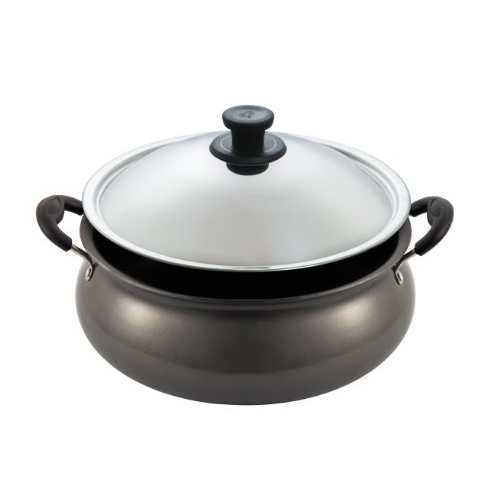 Pigeon by Stovekraft Black Non-Stick Gravy Pot with Lid, 12 litres