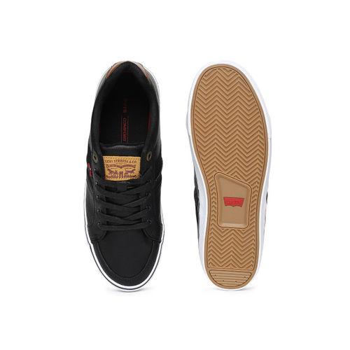 Levis Men Black Solid Sneakers