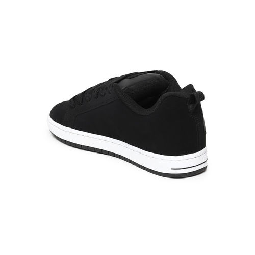 DC Men Black CT GRAFFIK Suede Sneakers