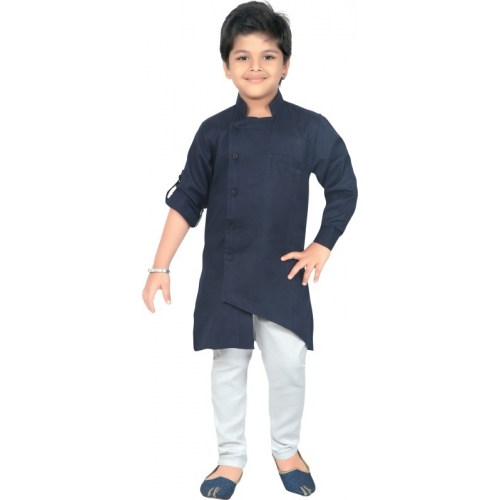 Ahhaaaa Boys Casual Kurta and Pyjama Set