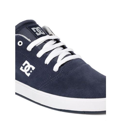 DC Men Navy Blue CRISIS Suede Sneakers