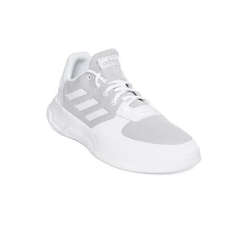 Buy ADIDAS Men White Solid Textile Mid Top Sneakers online