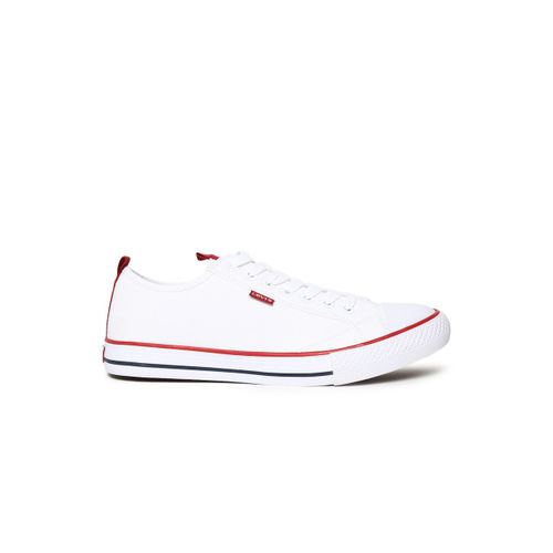 Levis Men White Stan Buck Ribbon Sneakers