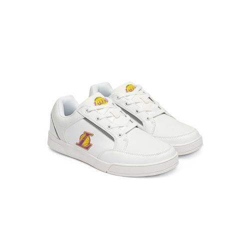 NBA Men White Solid Sneakers