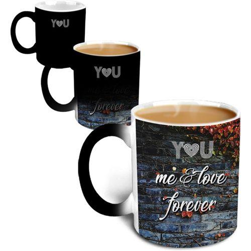 Hot Muggs MagicalYou-MeAndLoveForever Ceramic Mug(315 ml)