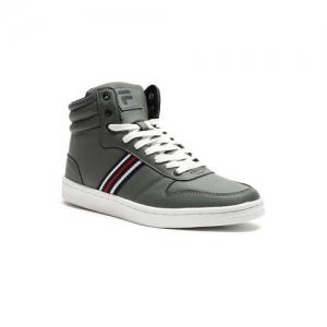 FILA Men Grey GERARDO Striped Mid-Top Sneakers