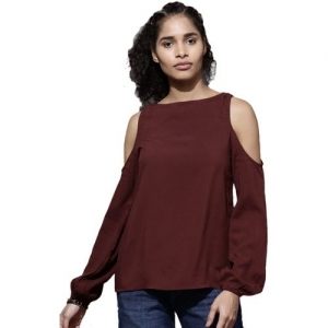 a9aea7e9c07350 Buy Miss Chase Casual Full Sleeve Solid Women's Maroon Top online ...