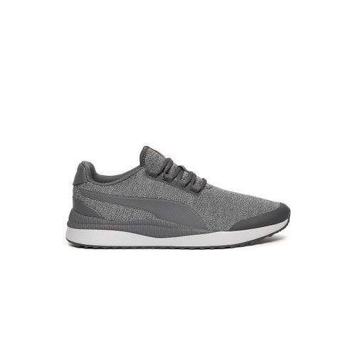 Puma Men Grey Pacer Next FS Knit Sneakers
