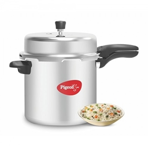 Pigeon by Stovekraft Deluxe Silver Aluminium Pressure Cooker, 12 Litres
