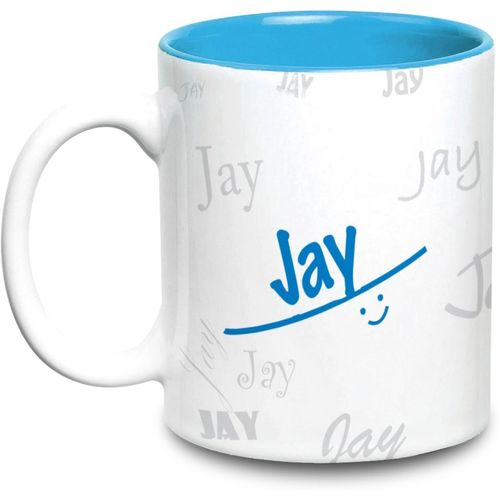 Hot Muggs Me Graffiti - Jay Ceramic Mug(315 ml)