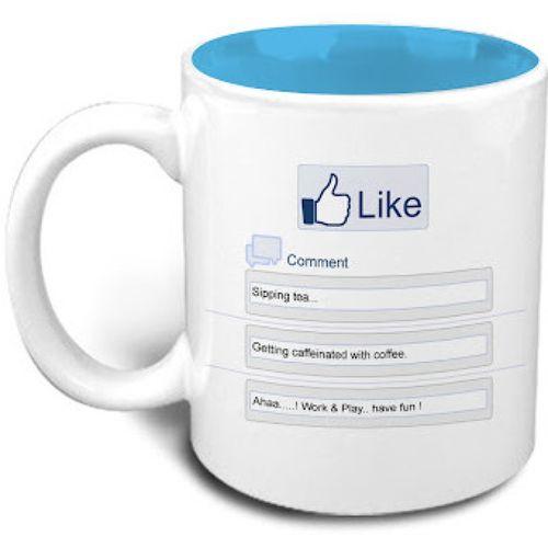 Hot Muggs Beat the Blues - Facebook Like Ceramic Mug(325 ml)