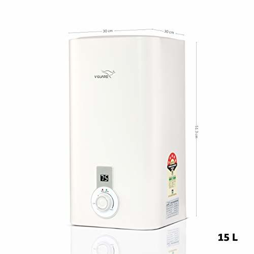 V-Guard V Guard Victo Plus 15 Litre Water Heater-Free Installation With Inlet and Outlet Pipe; Digital Display