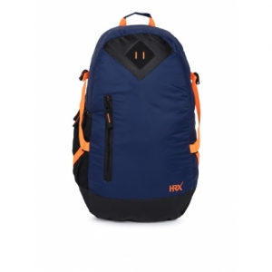 HRX by Hrithik Roshan Unisex Navy Blue Solid Backpack