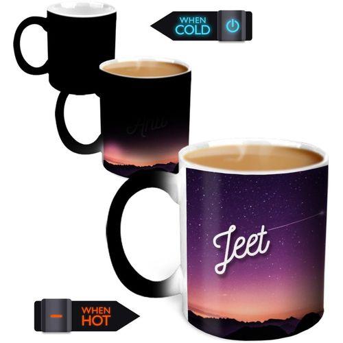 Hot Muggs You're the Magic Jeet Magic Color Changing Ceramic Mug(350 ml)