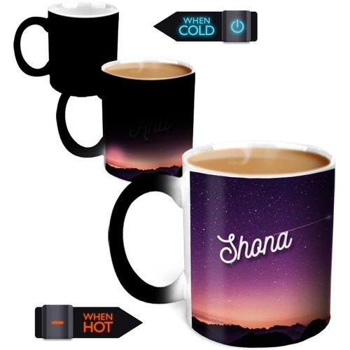 Hot Muggs You're the Magic Shona Magic Color Changing Ceramic Mug(350 ml)