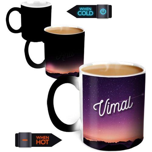 Hot Muggs You're the Magic Vimal Magic Color Changing Ceramic Mug(350 ml)