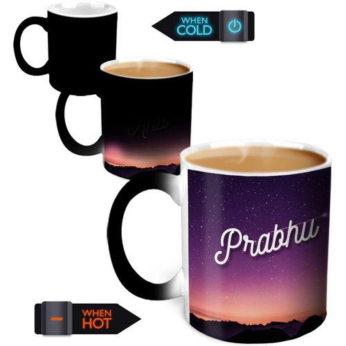 Hot Muggs You're the Magic Prabhu Magic Color Changing Ceramic Mug(350 ml)