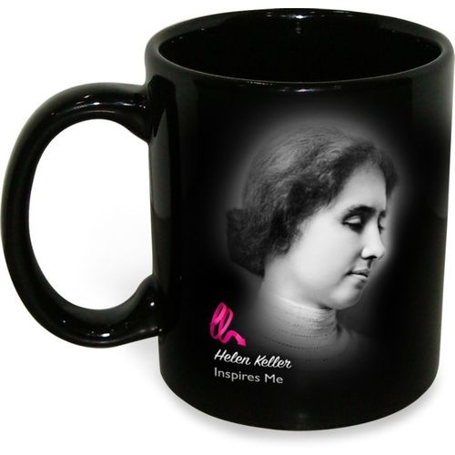 Hot Muggs Helen Keller - Life is Either a Great Ceramic Mug(350 ml)