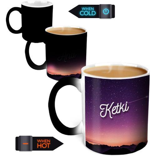 Hot Muggs You're the Magic Ketki Magic Color Changing Ceramic Mug(350 ml)