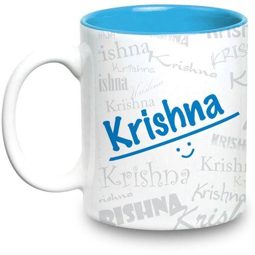 Hot Muggs Me Graffiti - Krishna Ceramic Mug(315 ml)