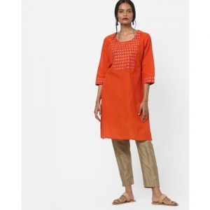 AVAASA MIX N' MATCH Straight Kurta with Printed Yoke Panel
