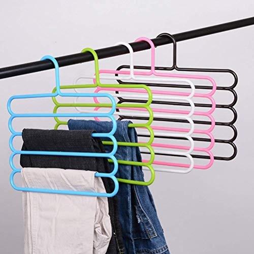 INOVERA (LABEL) 5 Layer Pants Clothes Hanger Wardrobe Storage Organiser Rack (Set of 4)