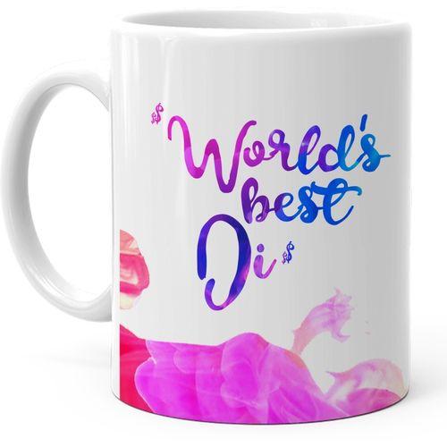 Hot Muggs Worlds Best Di Ceramic Mug(350 ml)