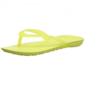 Crocs Parrot Green Rubber Flipflops